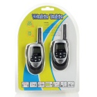 "T-228 Stylish 1.0"" LCD 0.5W 22-Channel Walkie Talkie - Antique Silver + Black (2 PCS / 3 x AAA)"