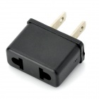 KLH-1002 EU to US Plug Power Adapter - Black (2-Flat-Pin Plug)