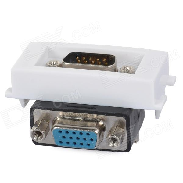 VGA Male to Female 90 Degree Bent Module - White + Black + Multi-Colored