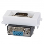 VGA-Stecker auf Buchse 90 Grad-Bent-Modul - White + Black + Multi-Colored