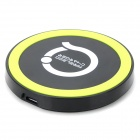 T20 5V 1000mA Mini Wireless Charger for Nokia / LG / Samsung + More - Black + Yellow