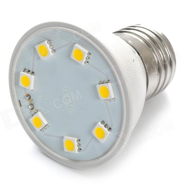 E27 2W 100lm 3500K 7 x SMD 5050 LED Warm White Light Lamp - (AC 110~130V)