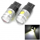 LY557 T20 12W 280lm 6000K 2-CREE XP-E R3 + 3-LED White Car Brake Light - Black + Silver (2 PCS)