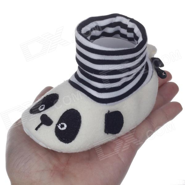 Cute Cartoon Panda High Collar Socks Style Anti-Slip Comfortable Baby Shoes - ( 3~6 Months / Pair) baby stroller high landscape can sit and lie trolley high quality folding baby cart children s pram