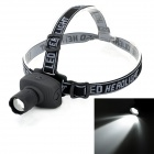 exLED 3W XP-E Q5 80lm 3-Mode White Zooming Headlamp - Black