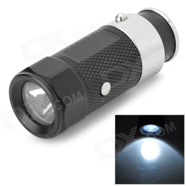 Mini Rechargeable Car  3-Mode Whilte Light LED Flashlight - Black + Silver