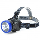 LSON LL-537B 20lm LED 1-Mode White Light Headlamp - Black + Blue (3 x AAA)