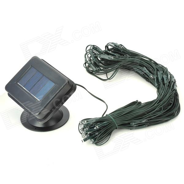 Waterproof Solar Charging 0.2W 3.7V 100-LED Stripe - Black + Translucent + Multi-Colored