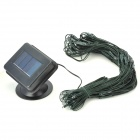 Waterproof Solar Charging 0.2W 3.7V 100-LED Strip - Black + Translucent + Multi-Colored