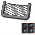 Plastic Hanging Car Storage Mesh Bag - Black
