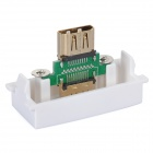 Feminino v1.4 HDMI Wall Module Panel Placa Socket - Branco + Verde