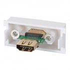 Mujer v1.4 HDMI Wall Panel Módulo de placa Socket - Blanco + Verde