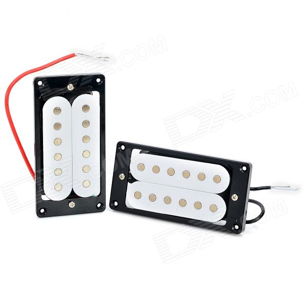 ZEA-DZ103 Humbucking Pickup Humbucker Set for Electric Guitar - White + Black + Multi-Color (1 Pair) rocket hot sale dual hot rail single coil humbucker pickup 4 wire for electric guitar excellent guitar parts