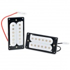 Humbucking Pickup Humbucker Set for Electric Guitar - White + Black + Multi-Color (1 Pair)