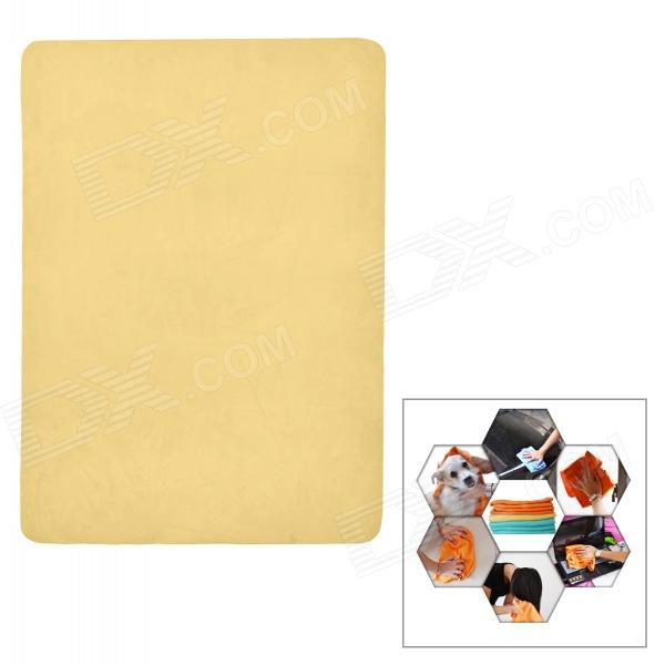 A135 Micro Suede Car Cleaning Towel - Yellow
