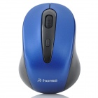RF-2804B Wireless Mini 3200dpi Optical Mouse - Black + Blue (2 x AAA)