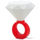 Valentine's Day Gift Diamond Ring Style 5W White LED Light Lamp - Red + White (5V)