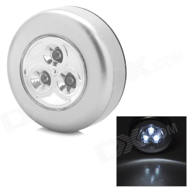 Waterproof 9W 6000lm 15000K 3-LED Cool White Lighting Lamp - Silver (5V / 3 x AAA)