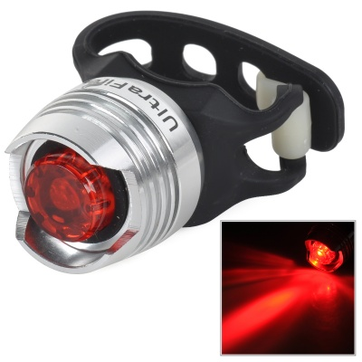 UltraFire 10lm 2-Mode Red Light Bicycle Security Tail Light - Black