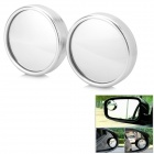 Universal Aluminum Alloy + Glass Lens Car Rearview Mirrors for BMW / Honda + More - Silver (2 PCS)