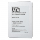 "Aluminum Alloy mSATA SSD to 2.5"" SATA Enclosure - Silver + White"