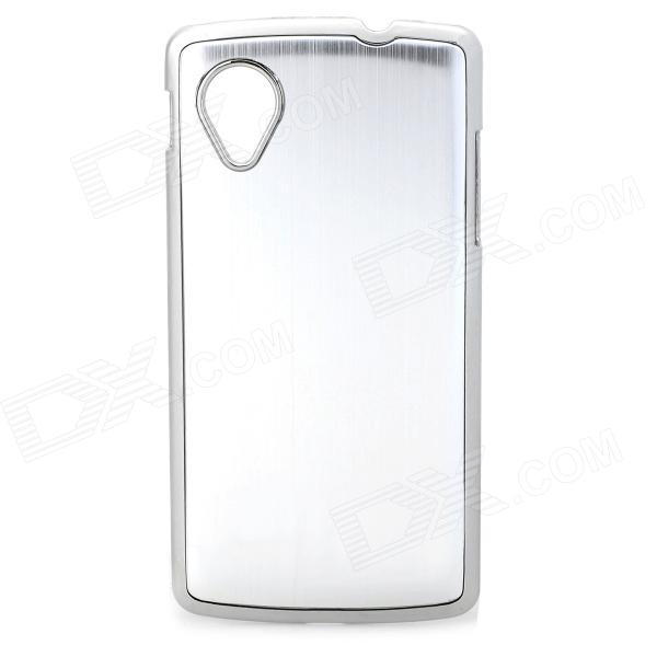 Protective Aluminum Alloy Back Case for LG Nexus 5 - Silver