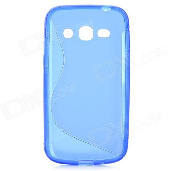 S Style Anti-Slip Protective TPU Back Case for Samsung Galaxy Ace 3 S7272 / S7275 / S7270 - Blue