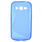 """S"" Style Anti-Slip Protective TPU Back Case for Samsung Galaxy Ace 3 S7272 / S7275 / S7270 - Blue"