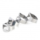 Stainless Steel Ring Shaped Bottle Opener - Silver (4PCS)