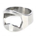 Creative Stainless Steel Ring Shaped Bottle Opener - Silver (4PCS)