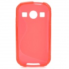 """S"" Style Anti-Slip Protective TPU Back Case for Samsung Galaxy Xcover 2 S7710 - Red"