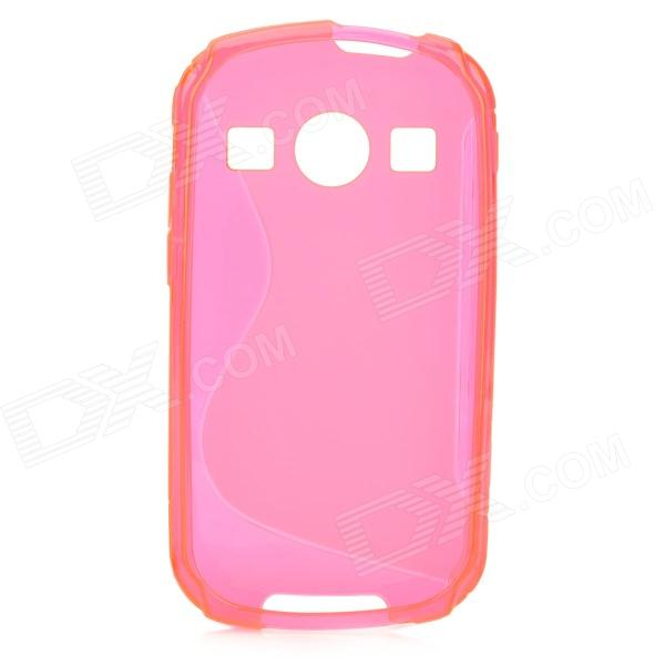 S Style Anti-Slip Protective TPU Back Case for Samsung Galaxy Xcover 2 S7710 - Deep Pink mesh style protective back case for htc one x s720e deep pink