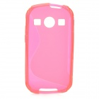 """S"" Style Anti-Slip Protective TPU Back Case for Samsung Galaxy Xcover 2 S7710 - Deep Pink"