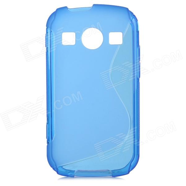 "Protective ""S"" Pattern TPU Back Case for Samsung Galaxy Xcover 2 s7710 - Blue"