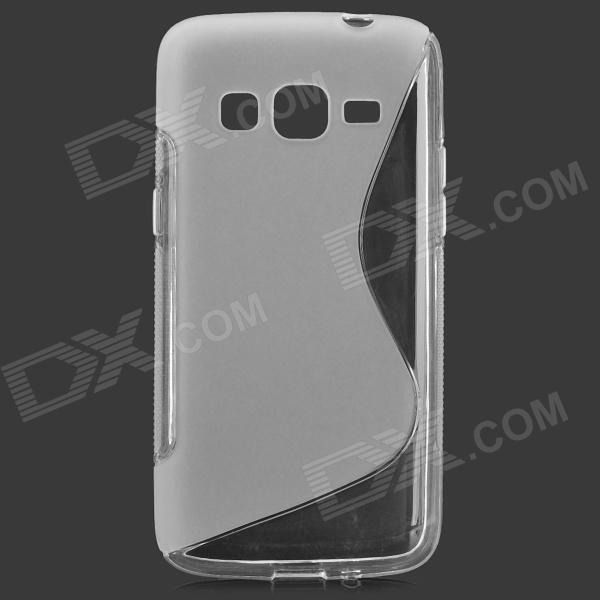 S Style Anti-Slip Protective TPU Back Case for Samsung Galaxy Express 2 G3815 - White protective frosted abs back case for samsung galaxy express i8730 white