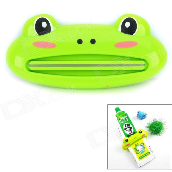 89 Cute Frog Shaped Multifunctional Bathroom Toothpaste Facial Cleanser Squeezer - Cyan
