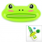 89 Cute Frog Shaped Multifunktionale Badezimmer Zahnpasta Facial Cleanser Squeezer - Cyan