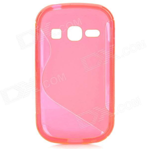 S Style Anti-Slip Protective TPU Back Case for Samsung Galaxy Fame S6812 / S6810 - Deep Pink mesh style protective back case for htc one x s720e deep pink