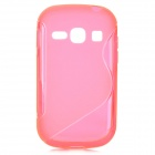 """S"" Style Anti-Slip Protective TPU Back Case for Samsung Galaxy Fame S6812 / S6810 - Deep Pink"