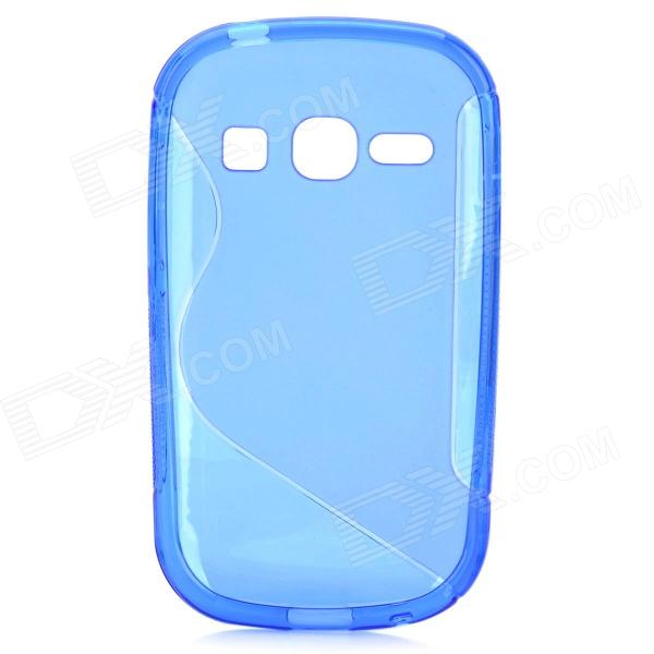 S Style Anti-Slip Protective TPU Back Case for Samsung Galaxy Fame S6812 / S6810 - Blue s style anti slip protective tpu back case for samsung galaxy ace 3 s7272 s7275 s7270 blue