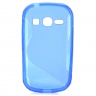 """S"" Style Anti-Slip Protective TPU Back Case for Samsung Galaxy Fame S6812 / S6810 - Blue"