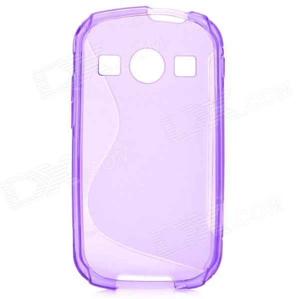 S Style Anti-Slip Protective TPU Back Case for Samsung Galaxy Xcover 2 S7710 - Purple protective pc tpu back case for iphone 5 w anti dust cover lavender purple