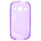 """S"" Style Anti-Slip Protective TPU Back Case for Samsung Galaxy Xcover 2 S7710 - Purple"