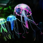 Silicone Aquarium Emulate Jellyfish - Translucent Purple + White
