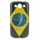 Brazilian Flag Style Protective PC Back Case for Samsung Galaxy S3 i9300 - Green + Yellow + Blue