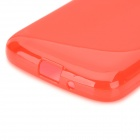 """S"" Style Anti-Slip Protective TPU Back Case for Samsung Galaxy Express 2 G3815 - Red"