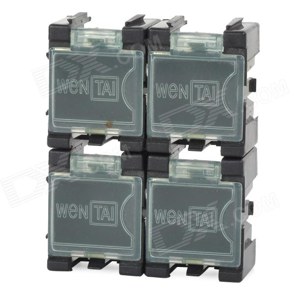 SMT + Resistance + Capacitance Electronic Component Storage Box w/ Flip Cover - Black (4 PCS)Storage Supplies<br>Form  ColorBlack + TransparentQuantity4 DX.PCM.Model.AttributeModel.UnitMaterialPlasticInner Size2.1 x 1.7 x 1.9 DX.PCM.Model.AttributeModel.UnitPacking List4 x Storage boxes<br>