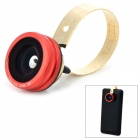 Universal 0.67X Wide Angle Fisheye Lens + Macro Lens Set for Cellphone - Red