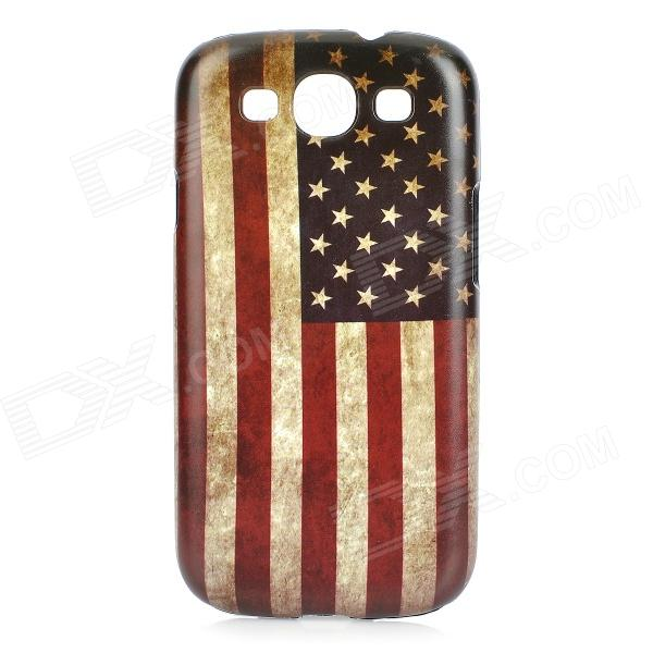 Retro US National Flag Style Protective PC Back Case for Samsung Galaxy S3 i9300 - Blue + Red protective germany national flag pattern case for samsung galaxy s4 i9500 black red yellow