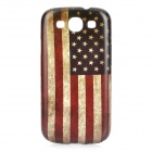 Retro US National Flag Style Protective PC Back Case for Samsung Galaxy S3 i9300 - Blue + Red